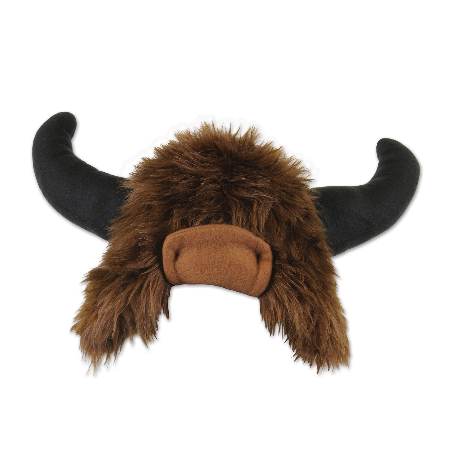 Plush Buffalo Hat by Beistle - Western Theme Decorations