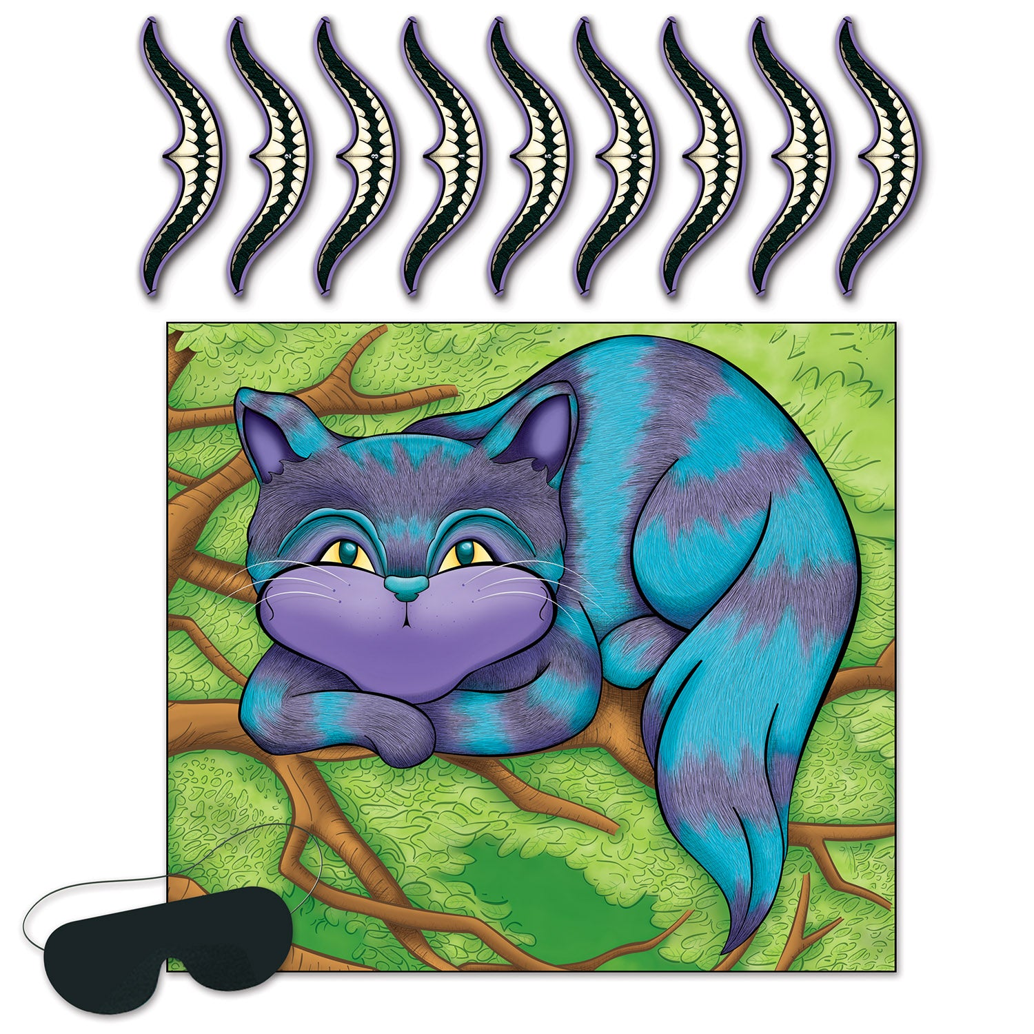 Pin The Smile On The Cheshire Cat Game by Beistle - Alice In Wonderland Theme Decorations