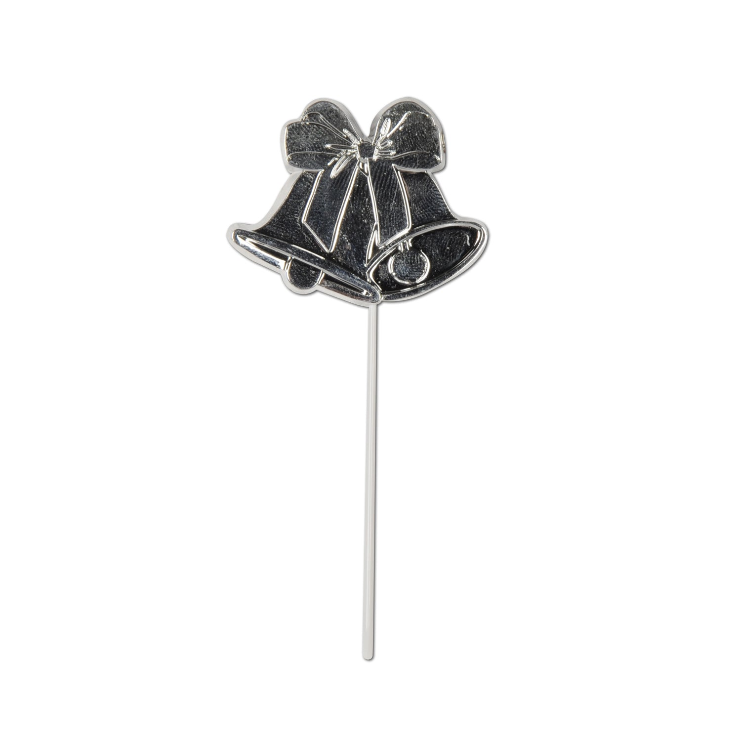 Bell Picks (8/Pkg) Silver, silver; molded plastic by Beistle - Anniversary Theme Decorations