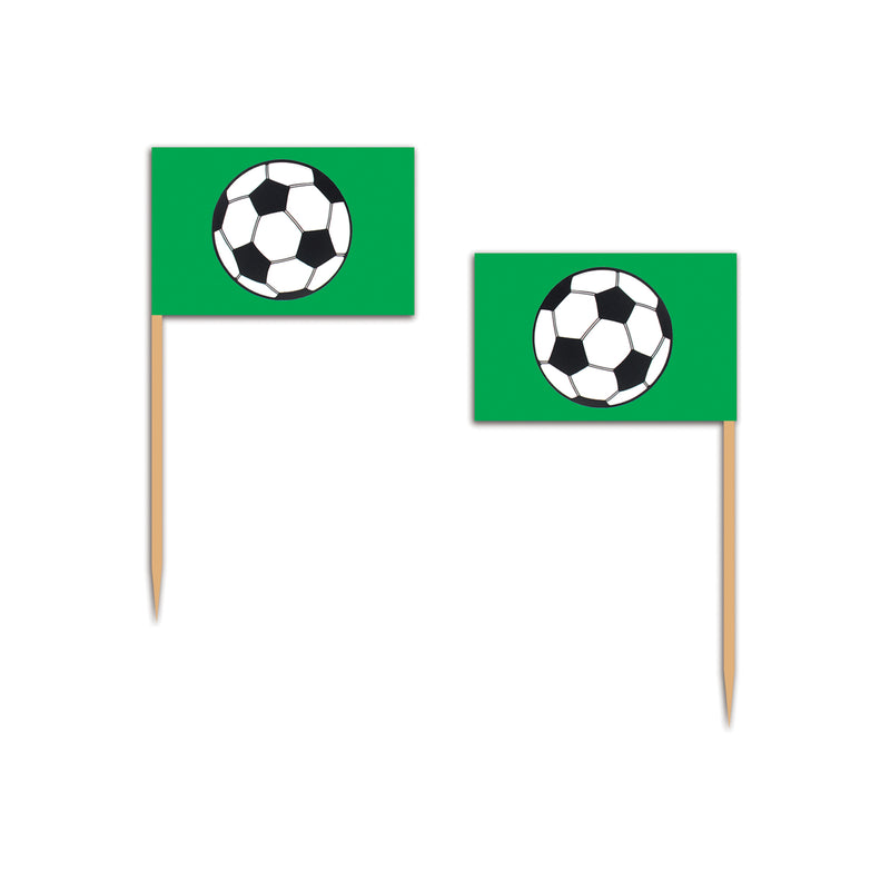 Soccer Ball Picks (50/Pkg) by Beistle - Soccer Theme Decorations