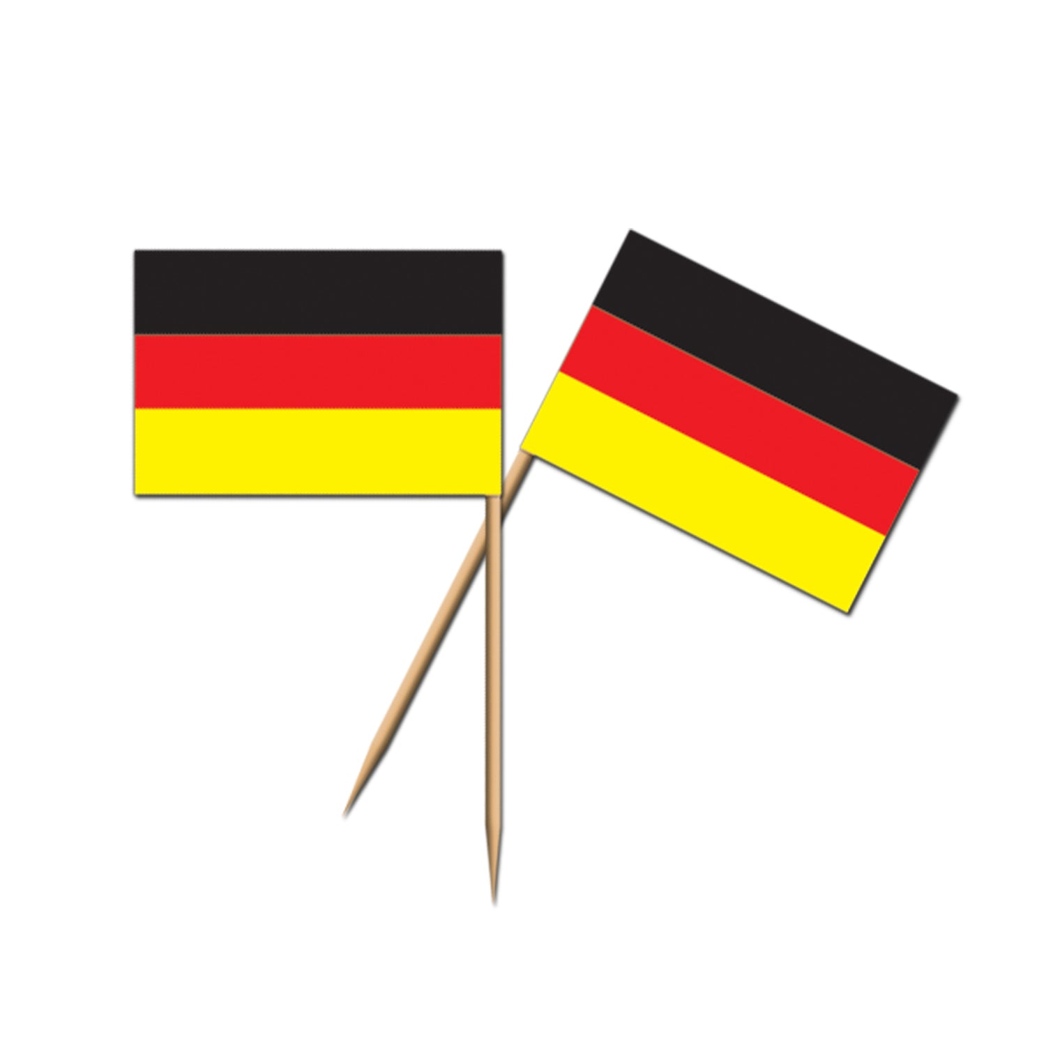 German Flag Picks (50/Pkg) by Beistle - German Theme Decorations