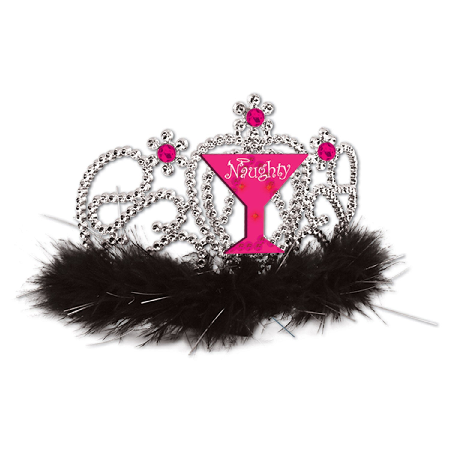 Plastic Light-Up Naughty Girl Tiara by Beistle - Bachelorette Theme Decorations