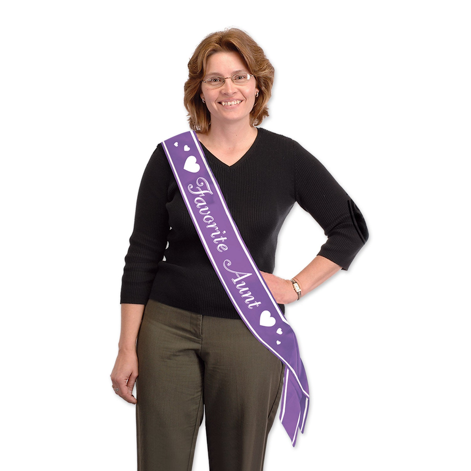 Favorite Aunt Satin Sash by Beistle - Baby Shower Theme Decorations