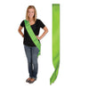 Satin Sash, lime green by Beistle - General Occasion Decorations