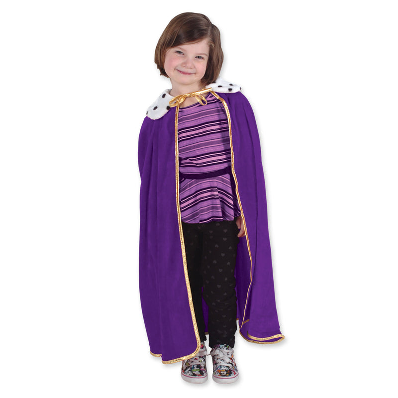 Child King/Queen Robe, purple by Beistle - Mardi Gras Theme Decorations
