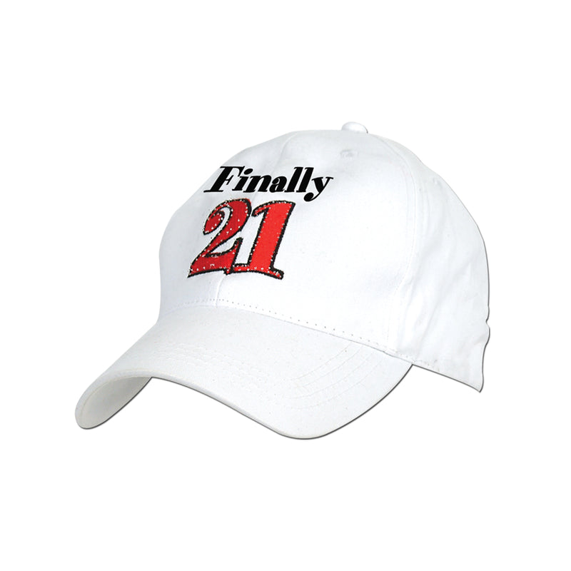 Embroidered Finally 21 Cap by Beistle - 21st Birthday Theme Decorations