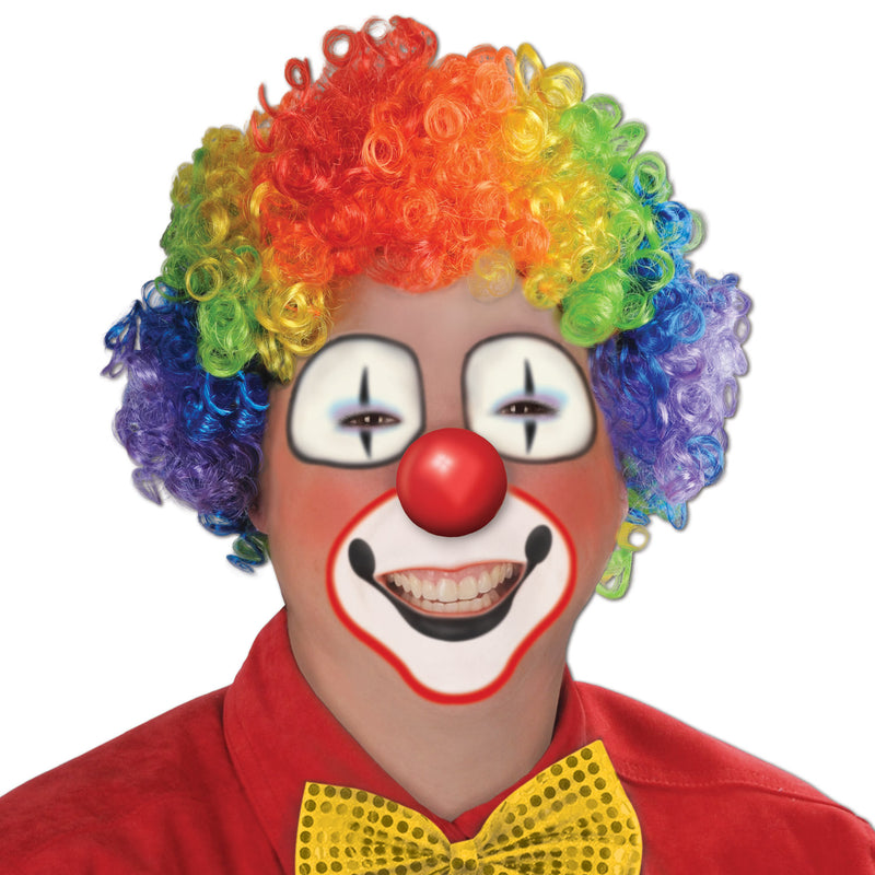 Rainbow Clown Wig by Beistle - Circus Theme Decorations