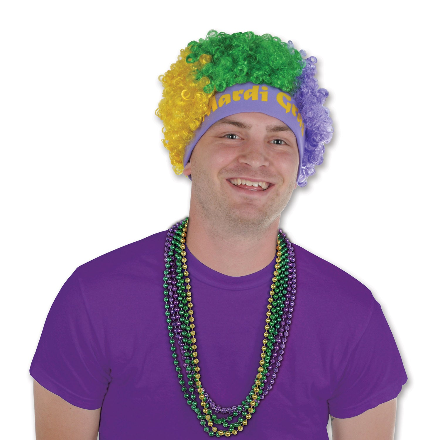 Mardi Gras Wig by Beistle - Mardi Gras Theme Decorations
