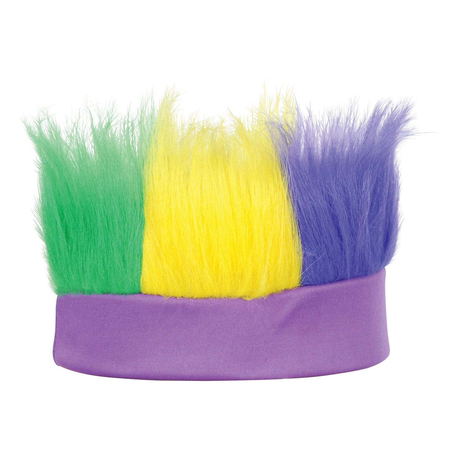 Hairy Headband, golden-yellow, green, purple by Beistle - Mardi Gras Theme Decorations