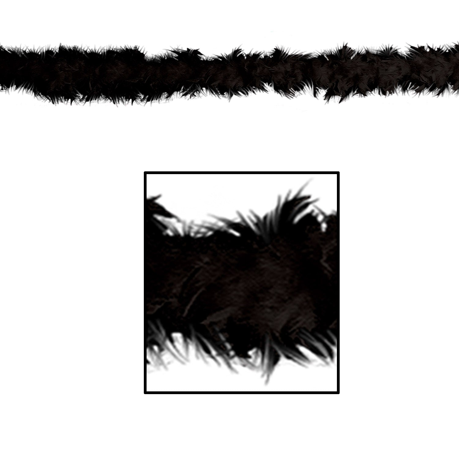 Fancy Boa, black by Beistle - 20's Theme Decorations