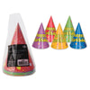 Packaged Balloon & Confetti B'day Cone Hats (8/Pkg) by Beistle - Birthday Party Supplies Decorations