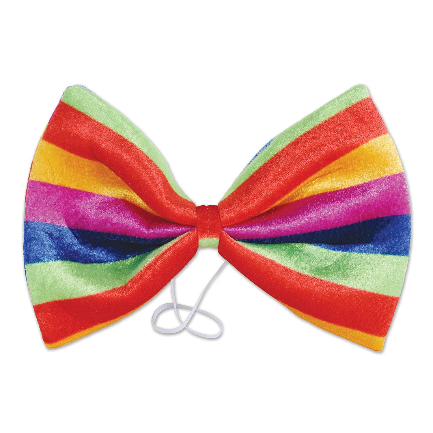 Jumbo Rainbow Bow Tie by Beistle - Rainbow Theme Decorations