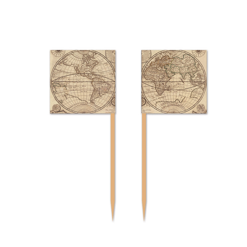 Around The World Picks (50/Pkg) by Beistle - Around The World Theme Decorations