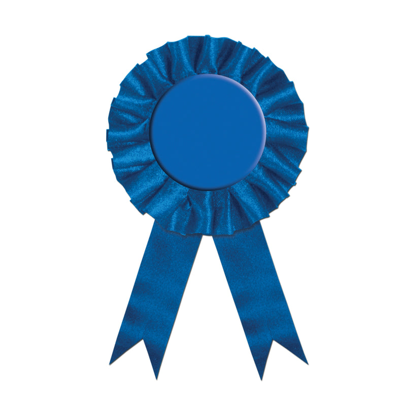 Award Ribbon, blue by Beistle - Derby Day Theme Decorations