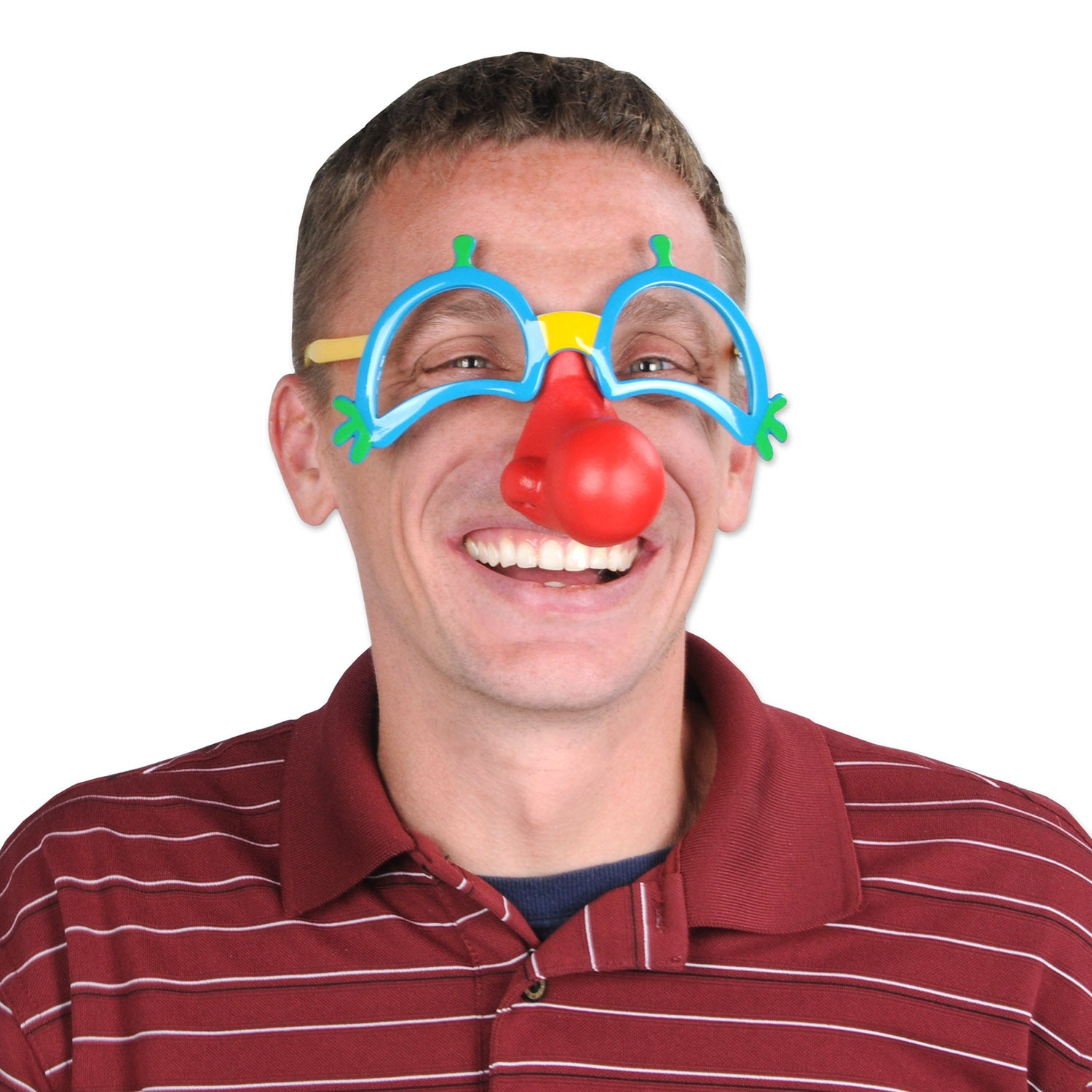 Clown Glasses w/Nose by Beistle - Circus Theme Decorations