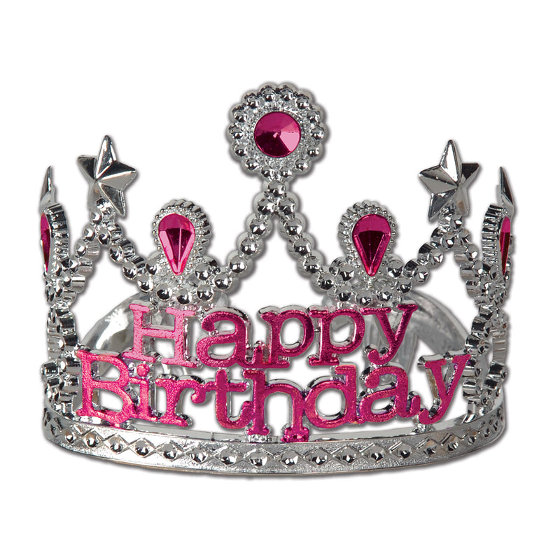 Plastic Happy Birthday Tiara by Beistle - Birthday Party Supplies Decorations