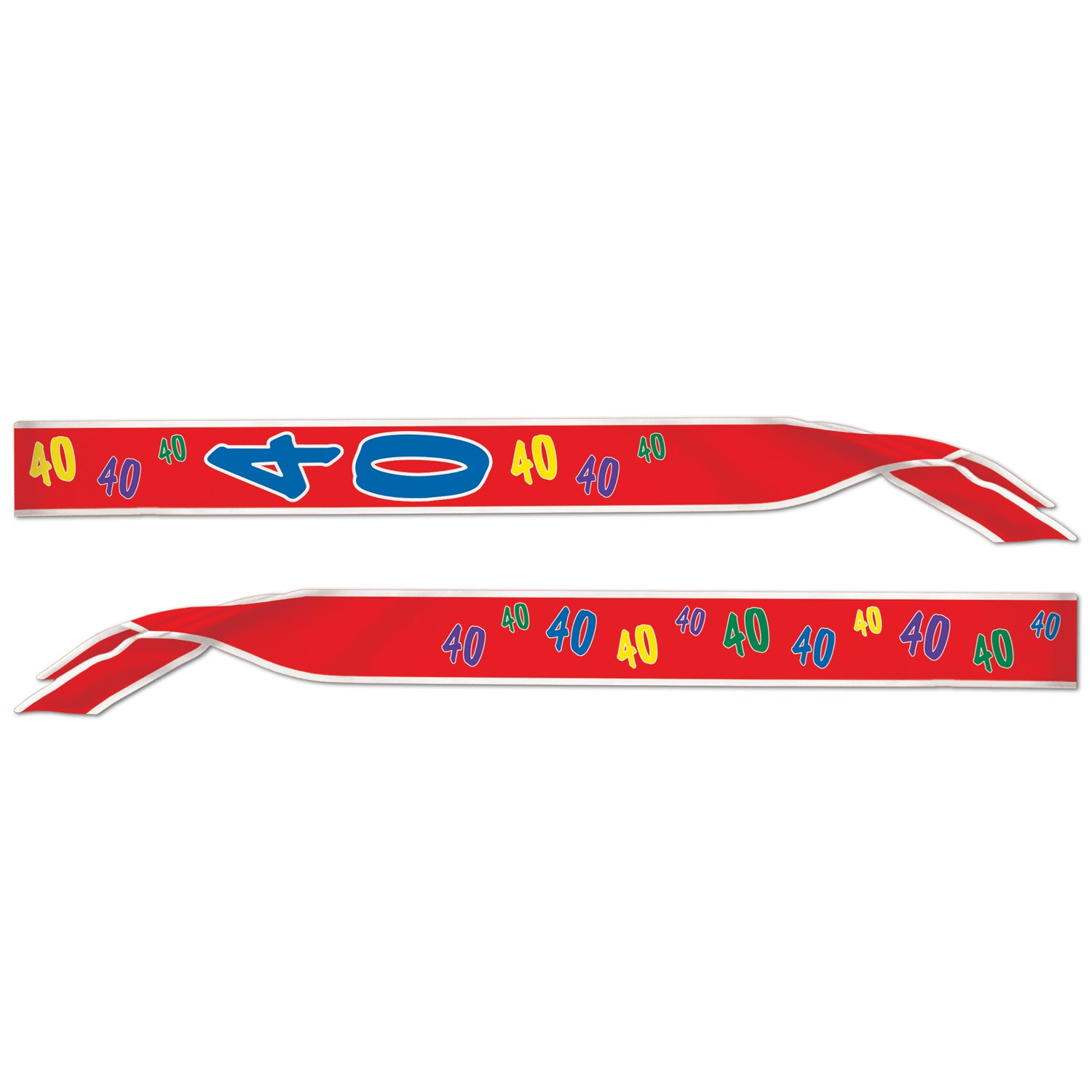40 Satin Sash by Beistle - 40th Birthday Party Decorations