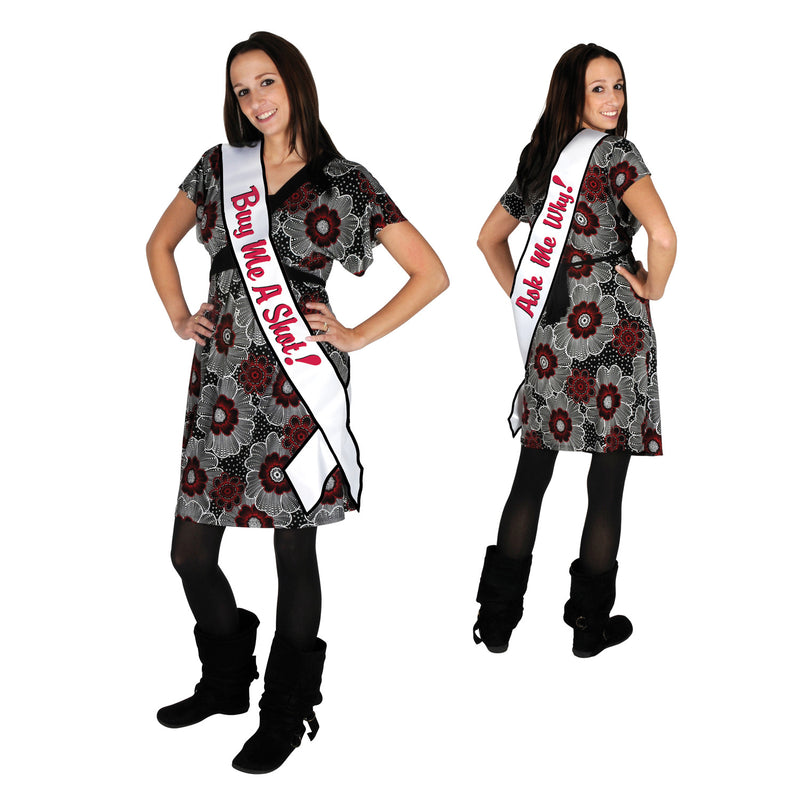 Buy Me A Shot! Ask Me Why! Satin Sash by Beistle - 21st Birthday Theme Decorations