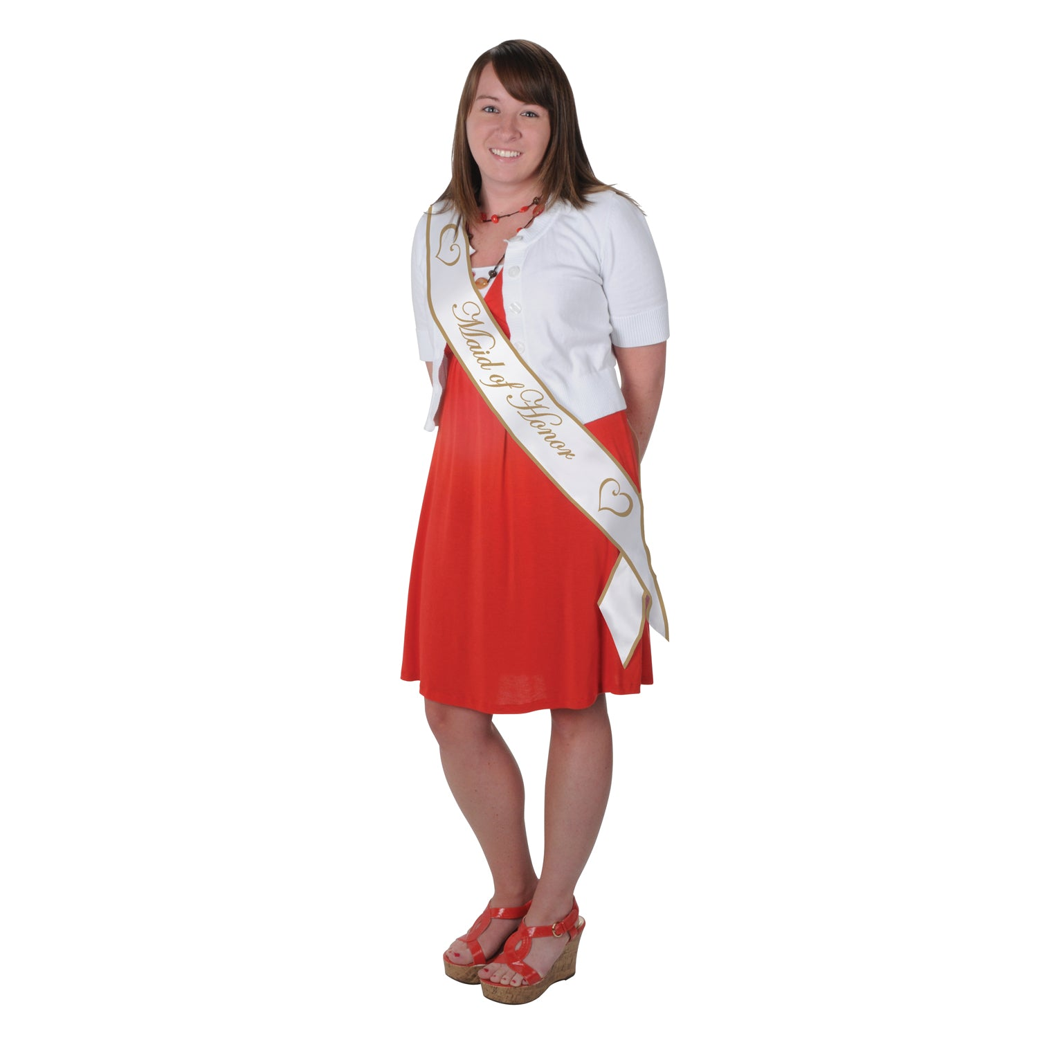 Maid Of Honor Satin Sash by Beistle - Wedding Theme Decorations