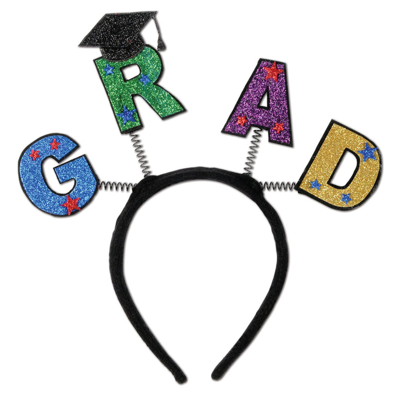 Glittered Grad Boppers by Beistle - Graduation Theme Decorations