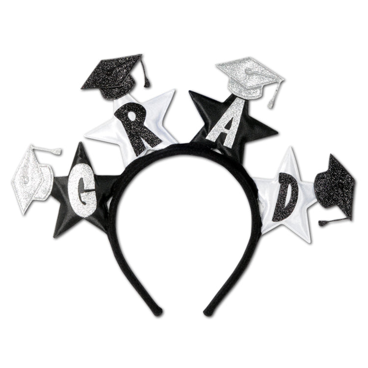 Glittered Grad Headband by Beistle - Graduation Theme Decorations
