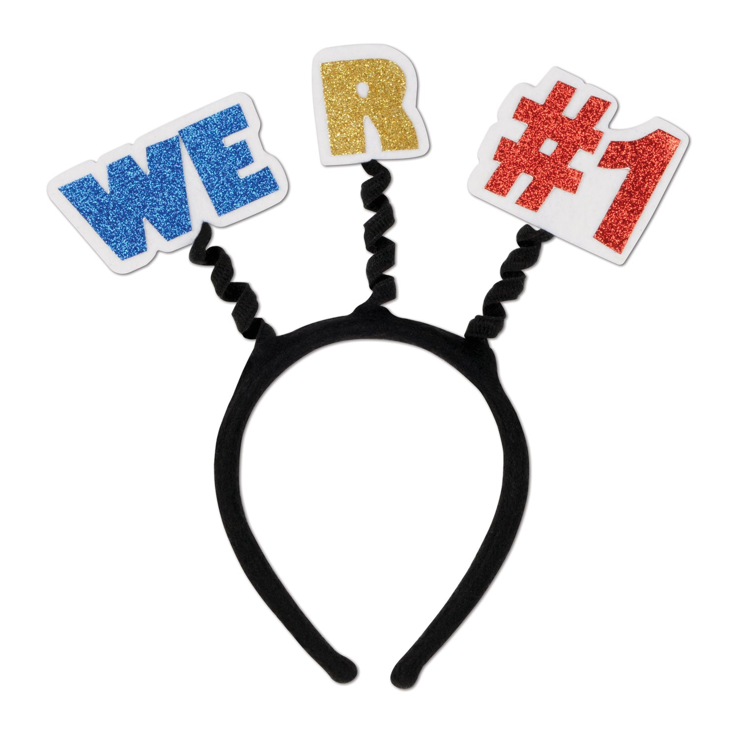 Glittered We R #1 Boppers by Beistle - Sports Theme Decorations