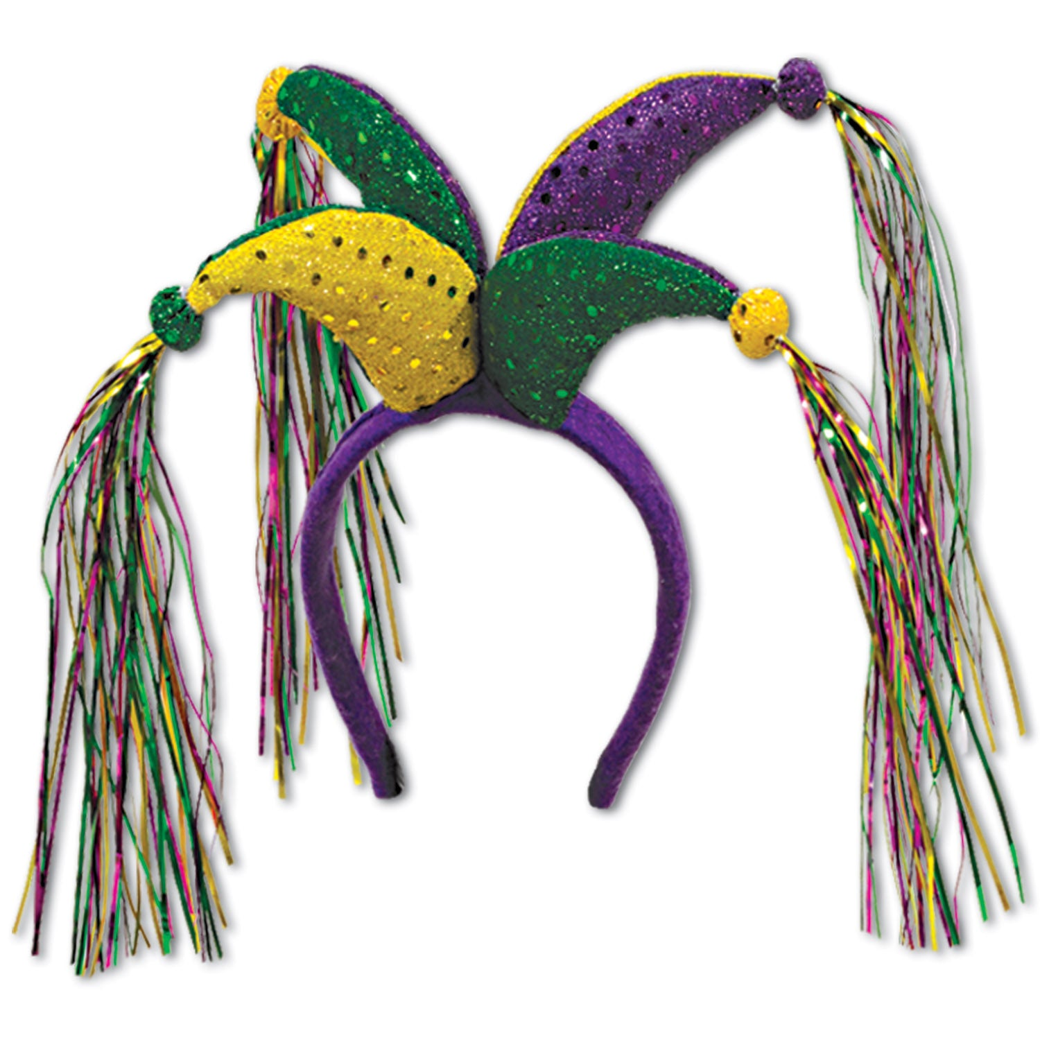 Jester Headband by Beistle - Mardi Gras Theme Decorations