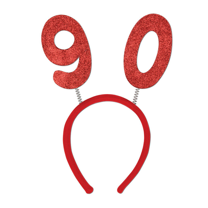 90 Glittered Boppers by Beistle - 90th Birthday Party Decorations