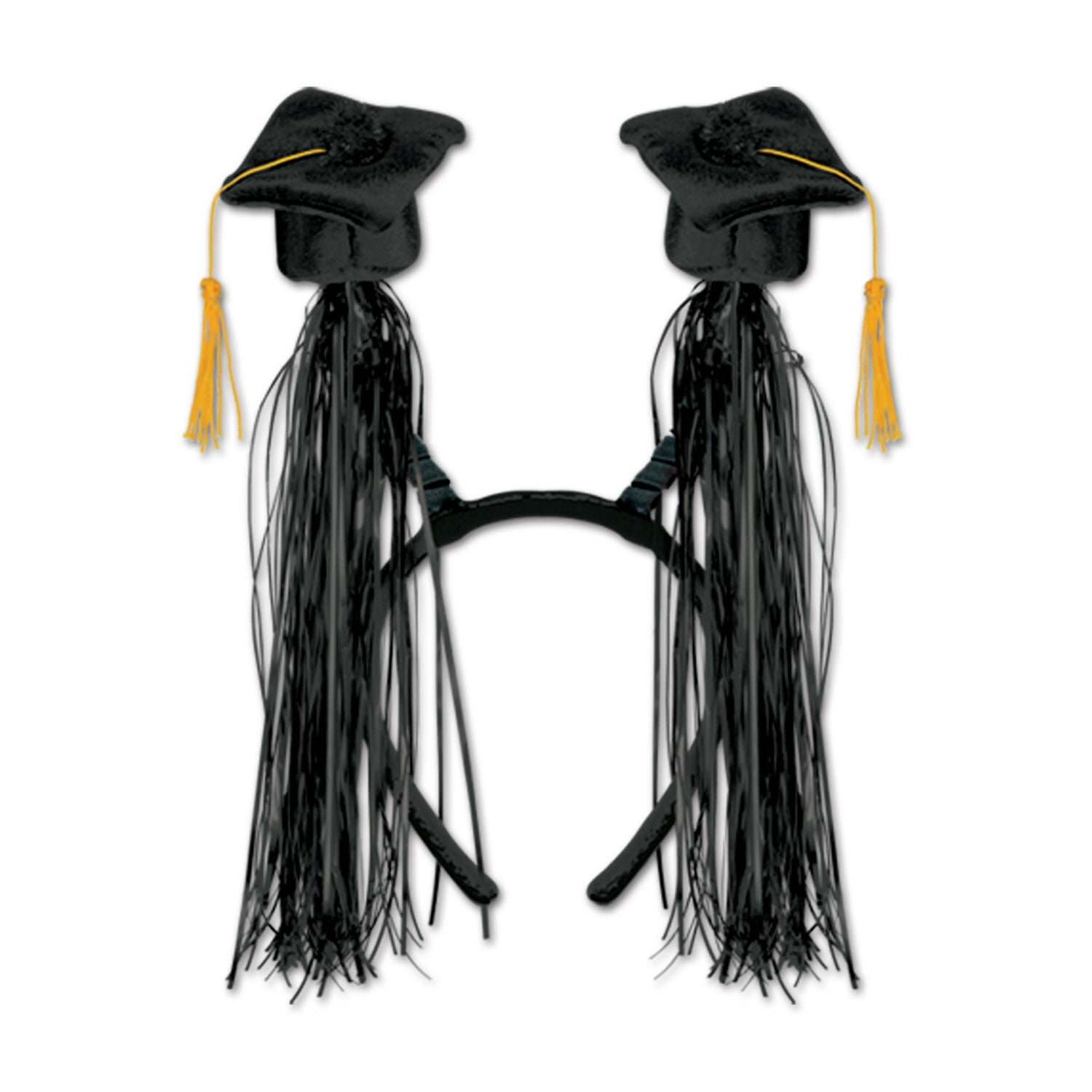 Grad Cap w/Fringe Boppers, black by Beistle - Graduation Theme Decorations