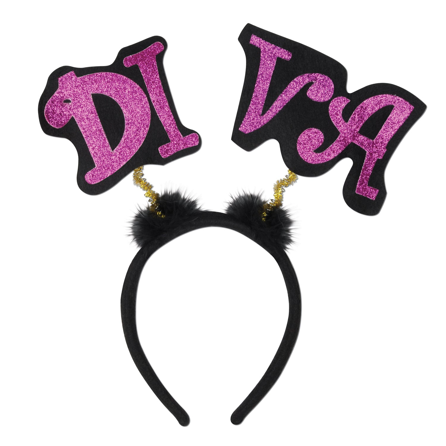 Glittered Diva Boppers by Beistle - Diva/Drama Queen Theme Decorations