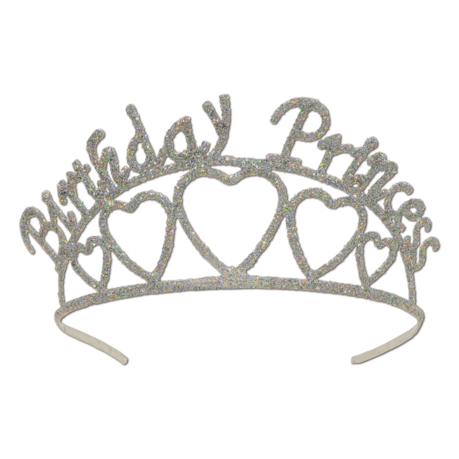 Glittered Metal Birthday Princess Tiara by Beistle - Birthday Party Supplies Decorations