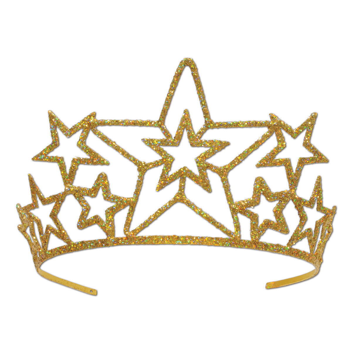 Glittered Metal Star Tiara by Beistle - Awards Night Theme Decorations