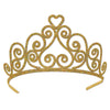 Glittered Metal Tiara, gold by Beistle - General Occasion Decorations
