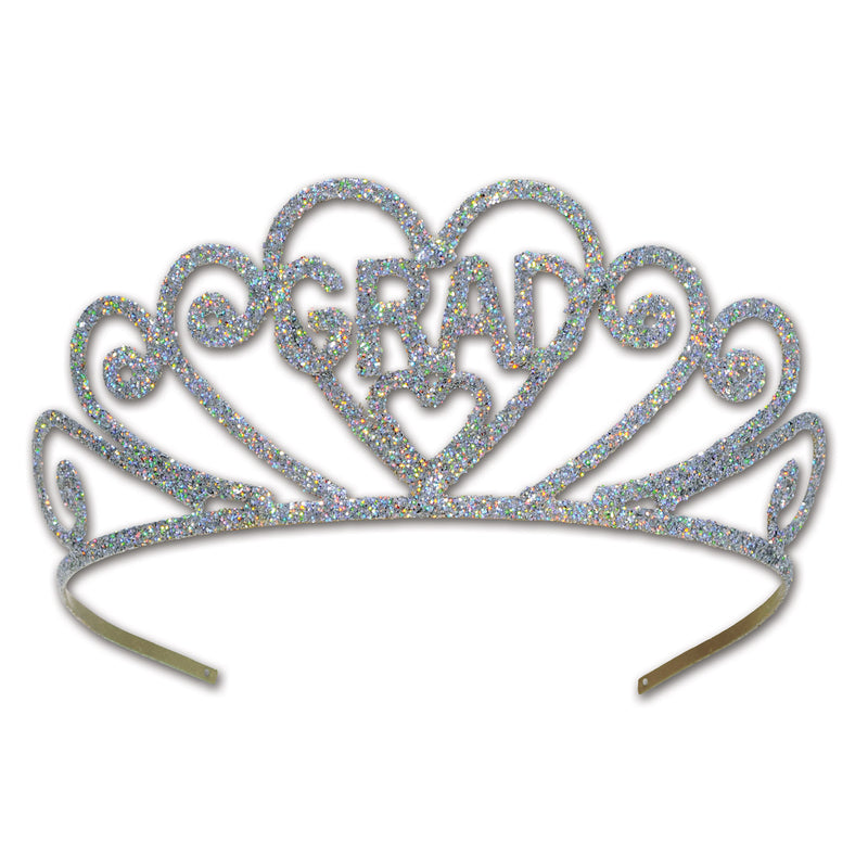 Glittered Metal Grad Tiara by Beistle - Graduation Theme Decorations