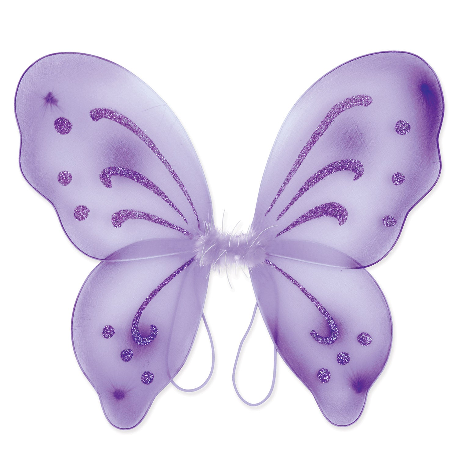 Nylon Fairy Wings, purple; elastic armbands by Beistle - Halloween Theme Decorations