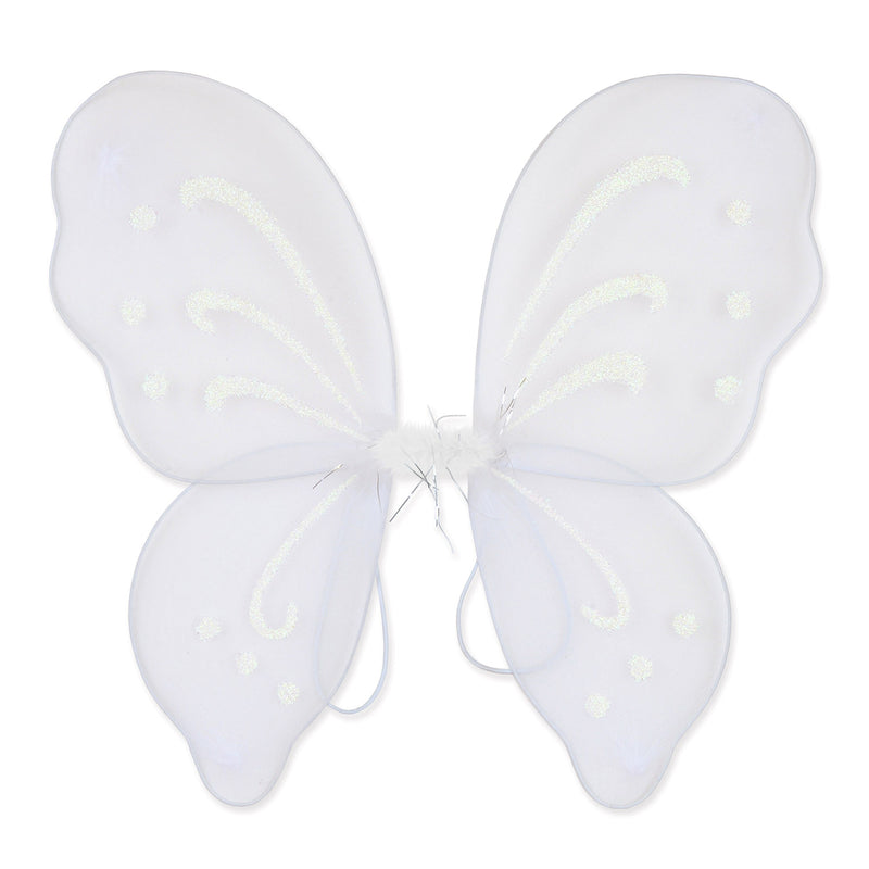 Nylon Fairy Wings, white; elastic armbands by Beistle - Halloween Theme Decorations