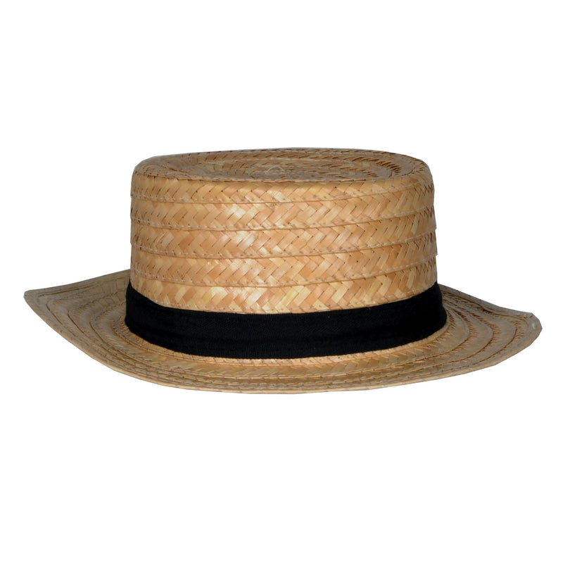 Straw Skimmer Hat by Beistle - 20's Theme Decorations