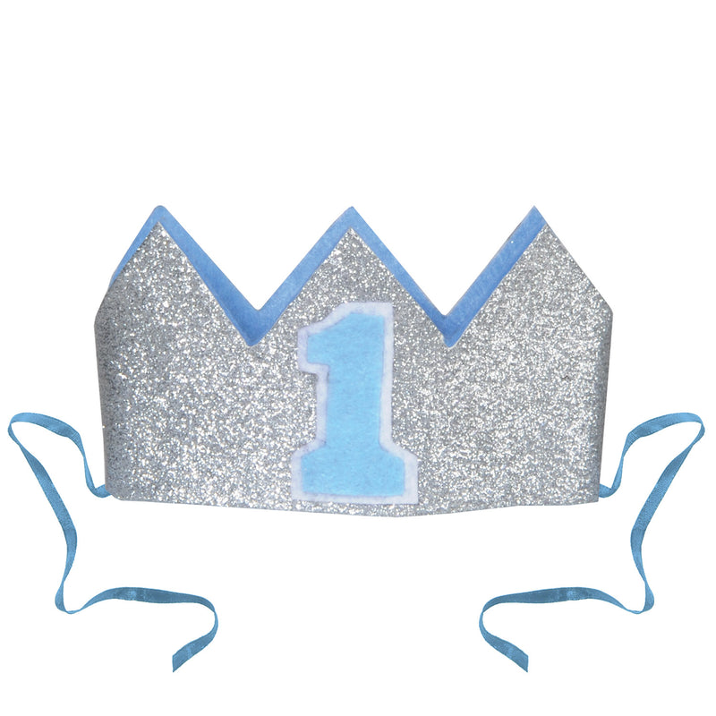 Glittered Baby's 1st Birthday Crown by Beistle - 1st Birthday Party Decorations