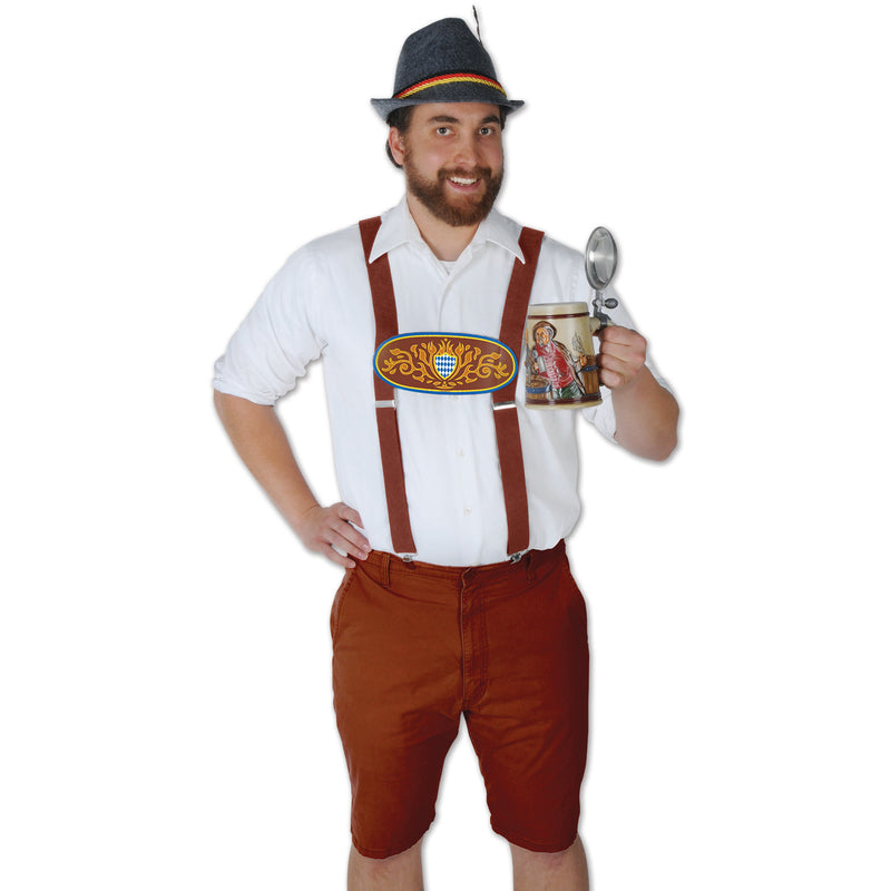 Bavarian Suspenders by Beistle - Oktoberfest Theme Decorations