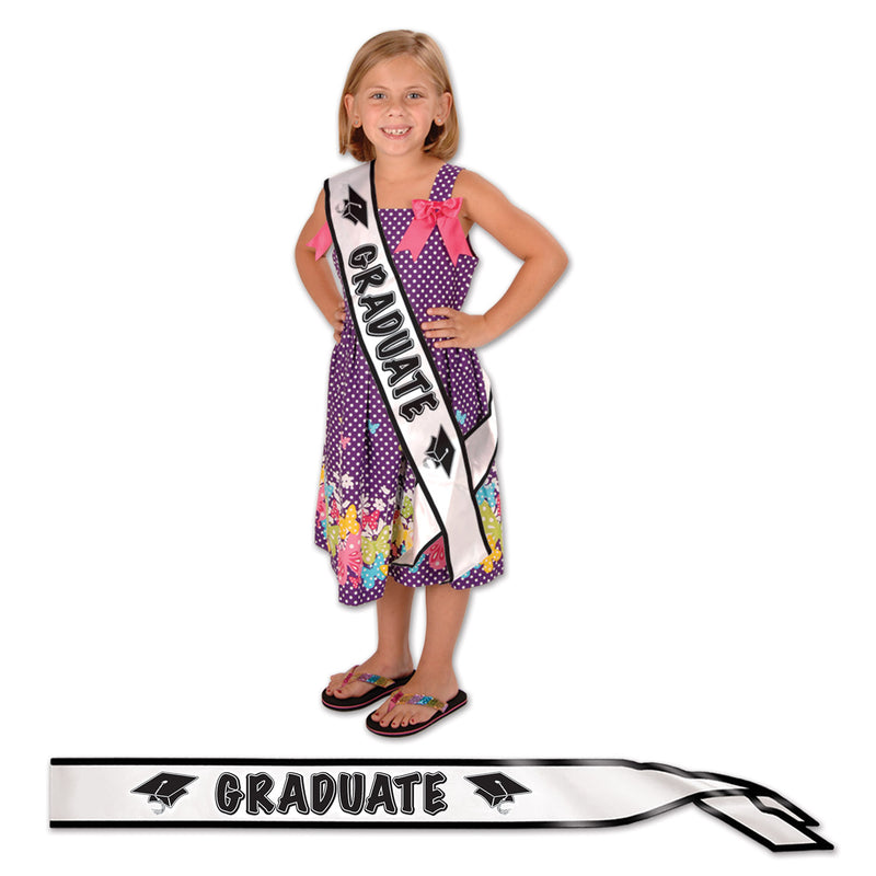 Graduate Satin Sash by Beistle - Graduation Theme Decorations