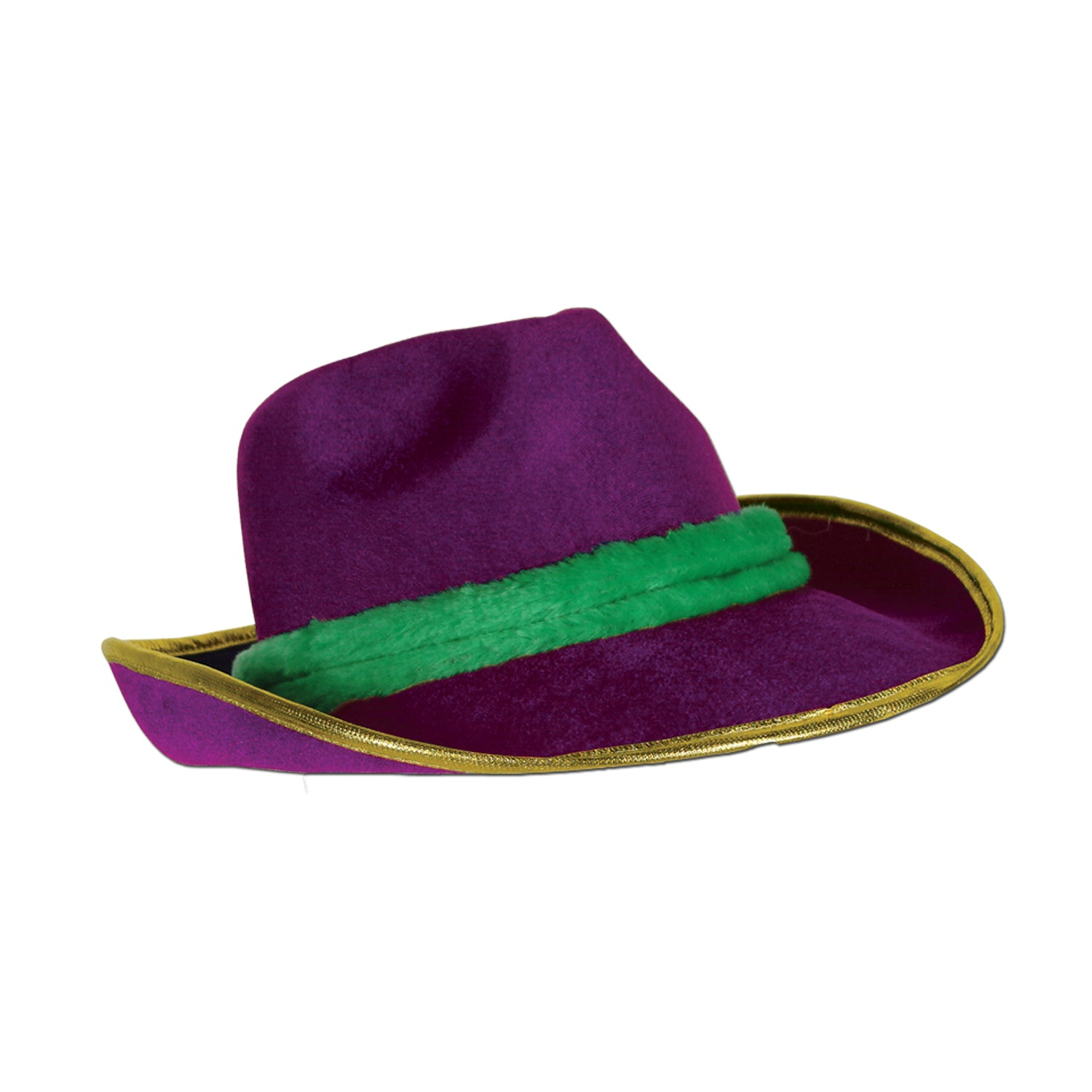 Mardi Gras Vel-Felt Fedora by Beistle - Mardi Gras Theme Decorations