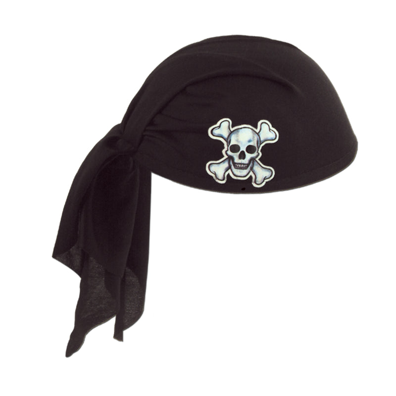 Pirate Scarf Hat, black by Beistle - Pirate Theme Decorations