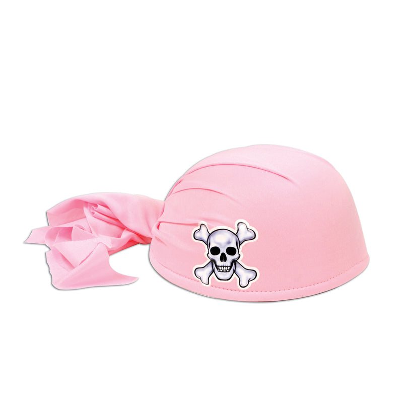 Pirate Scarf Hat, pink by Beistle - Pirate Theme Decorations