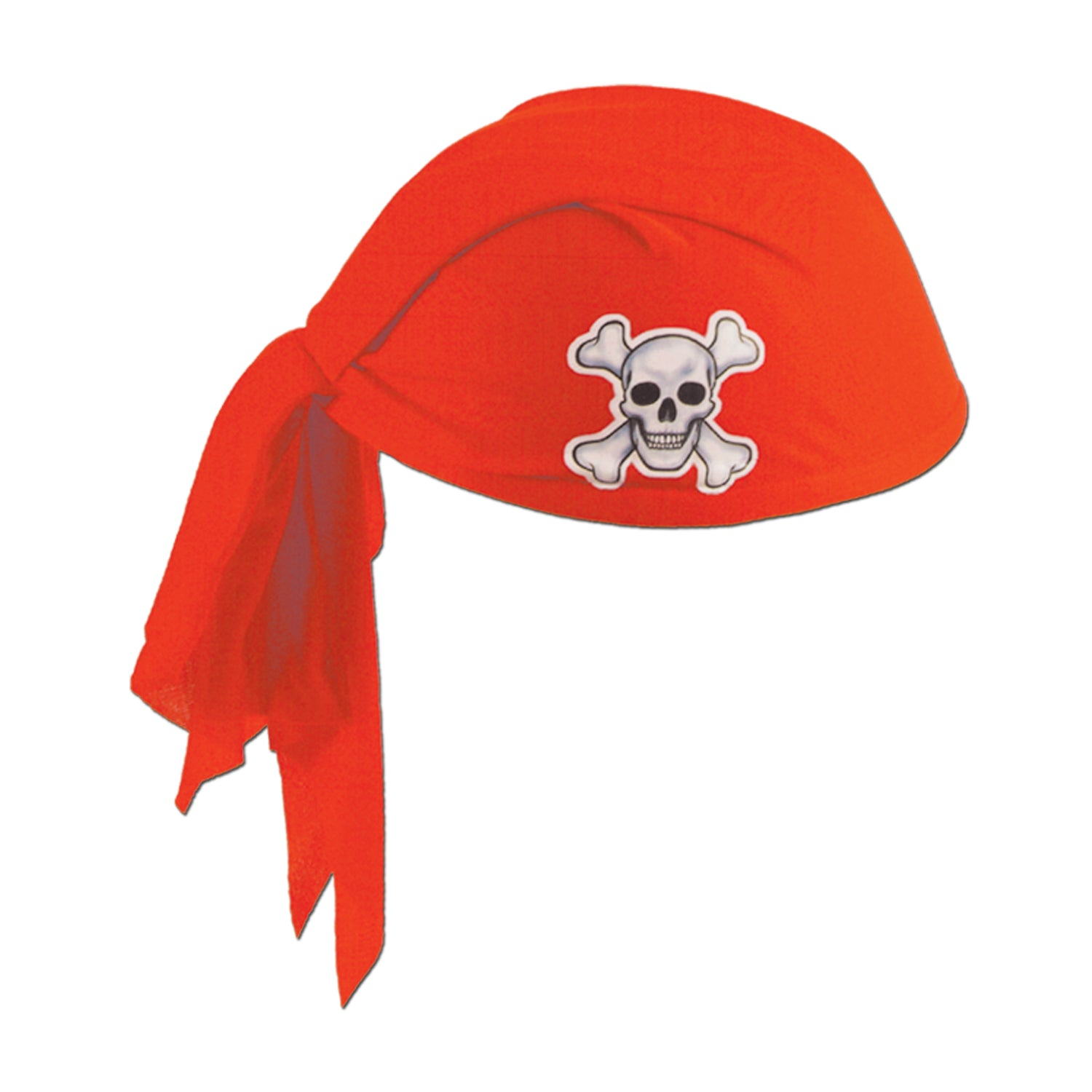Pirate Scarf Hat, red by Beistle - Pirate Theme Decorations