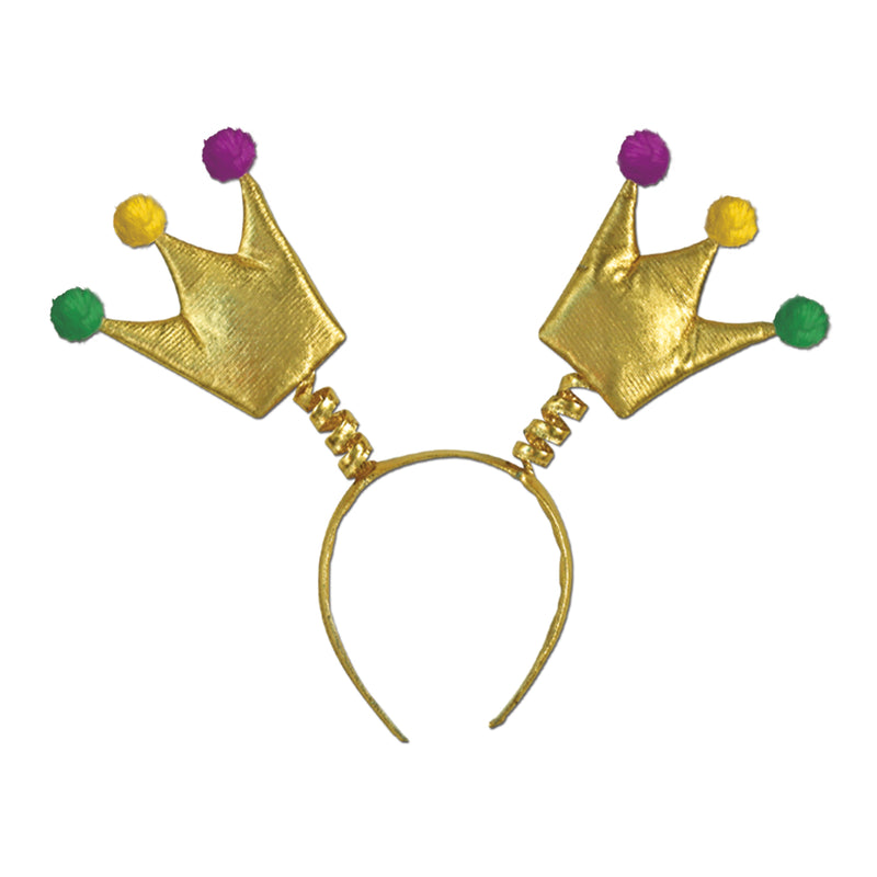 Mardi Gras Crown Boppers by Beistle - Mardi Gras Theme Decorations