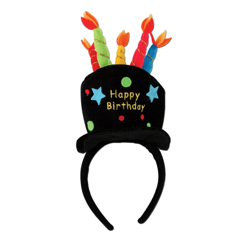 Plush Birthday Cake Headband by Beistle - Birthday Party Supplies Decorations