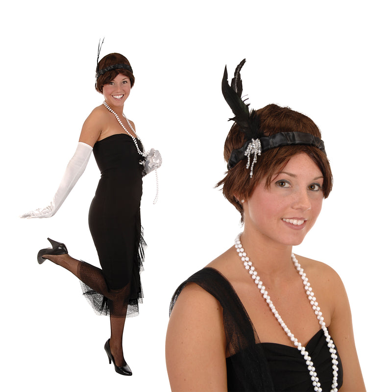 Flapper Headband, black by Beistle - 20's Theme Decorations