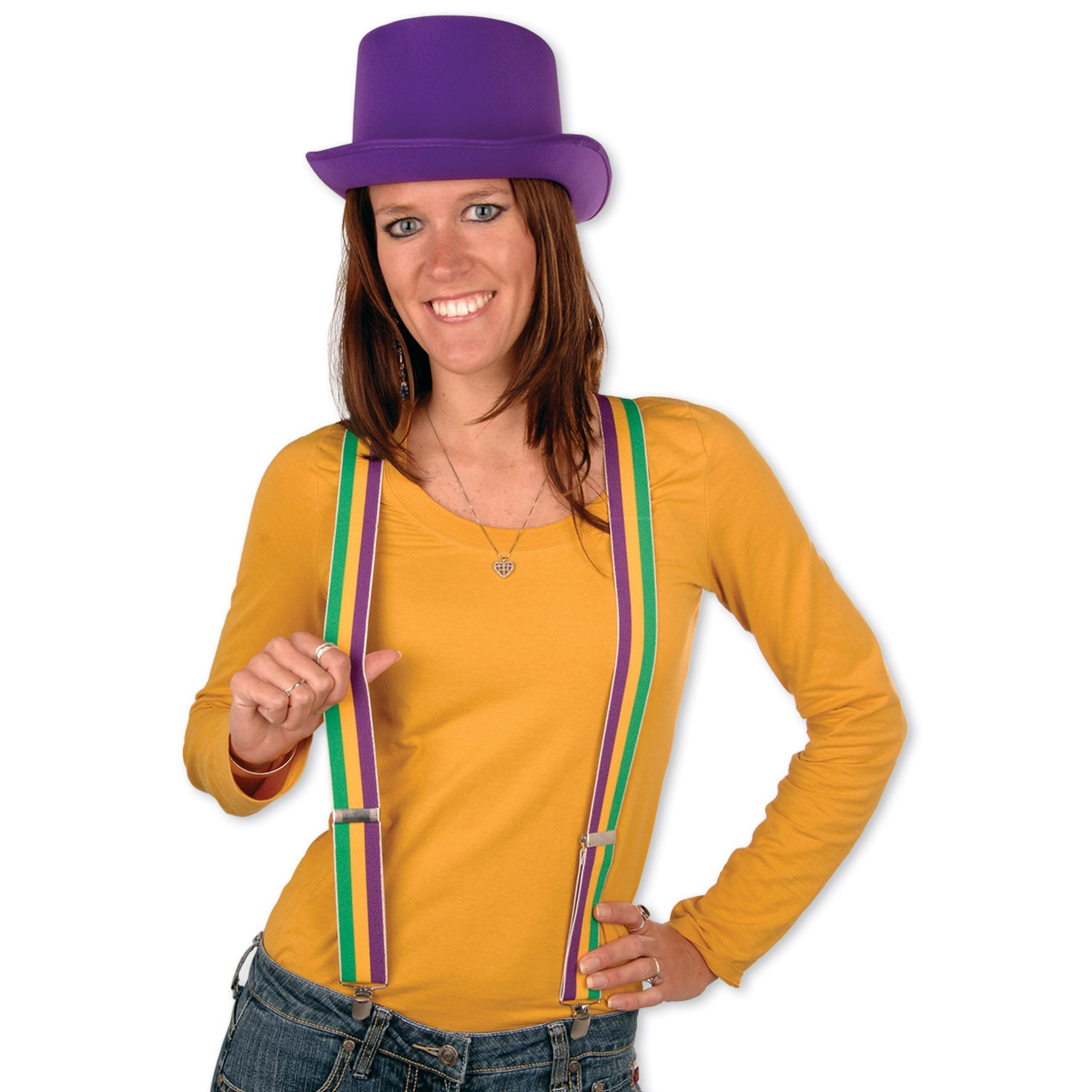 Mardi Gras Suspenders by Beistle - Mardi Gras Theme Decorations