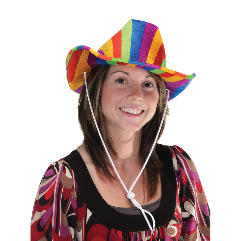 Rainbow Cowboy Hat by Beistle - Rainbow Theme Decorations