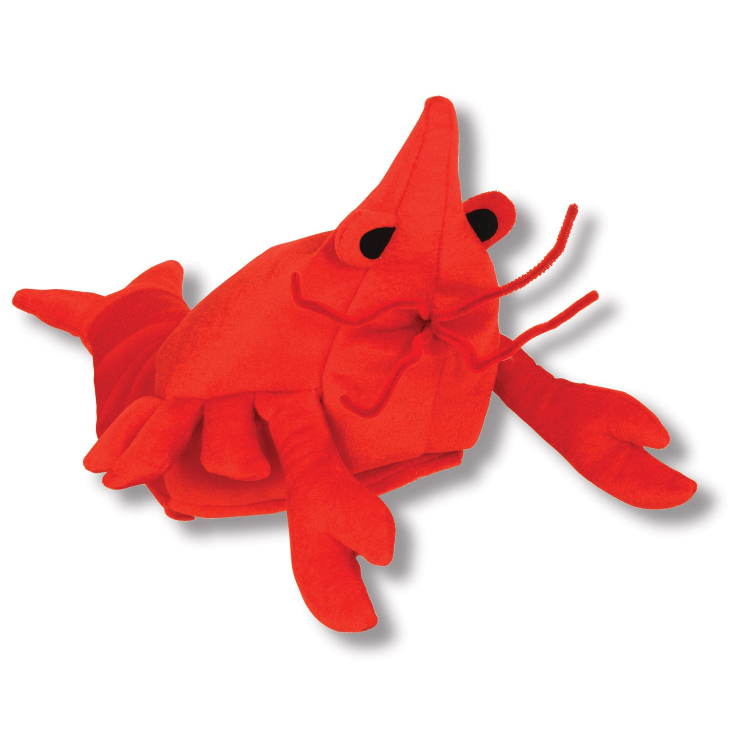 Plush Crawfish Hat by Beistle - Mardi Gras Theme Decorations